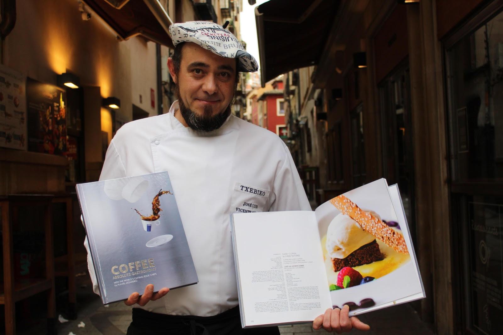 Las recetas de Txebiko incluidas en el exclusivo libro Coffee Absolute Gastronomy